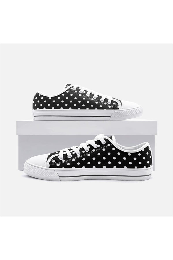 Polka-dot Unisex Low Top Canvas Shoes