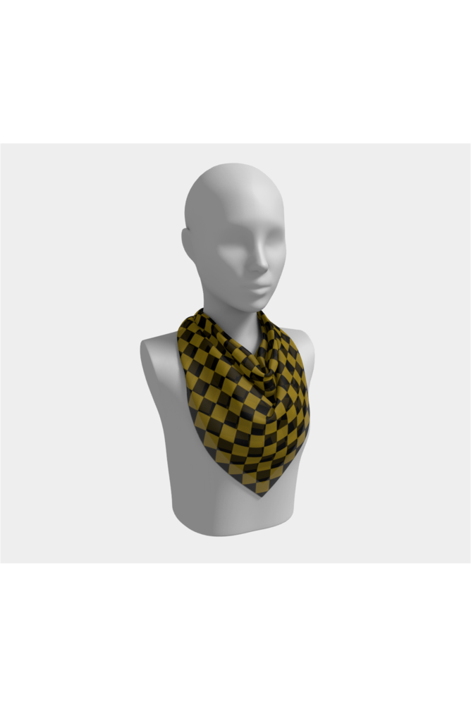 Black and Gold Diamonds Square Scarf - Objet D'Art Online Retail Store