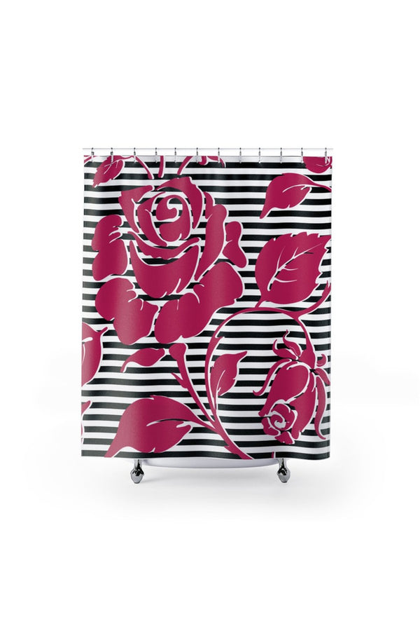 Pink Rose Shower Curtains