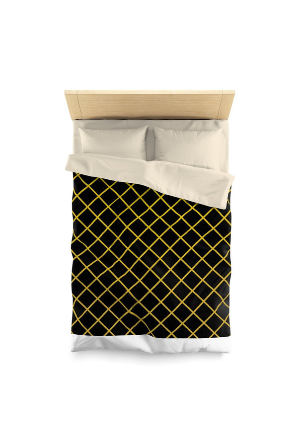 Gold & Black Diamond Microfiber Duvet Cover - Objet D'Art Online Retail Store