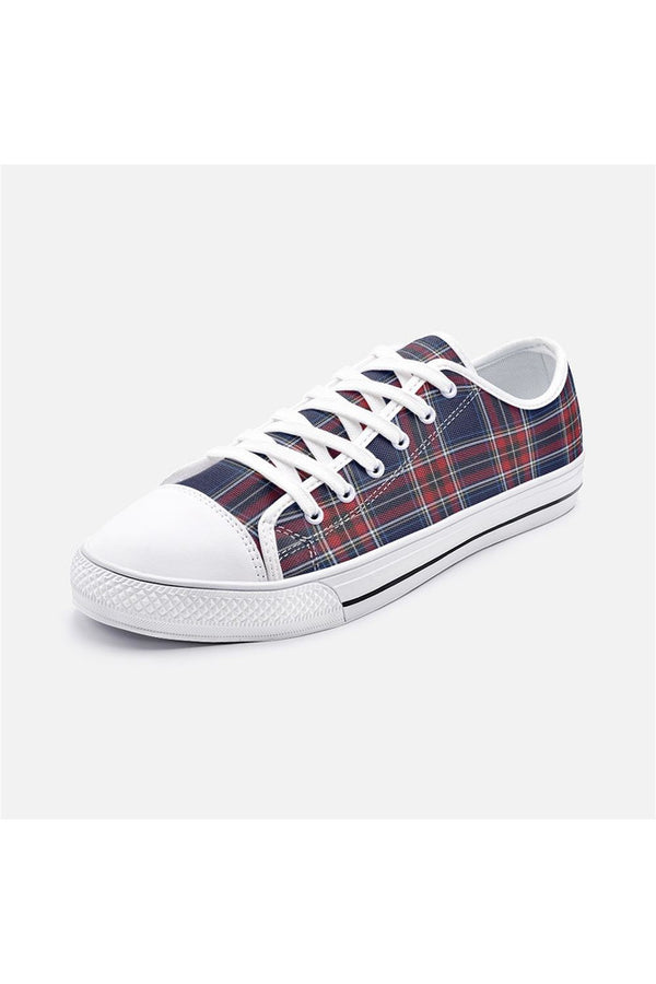 Plaid Unisex Low Top Canvas Shoes