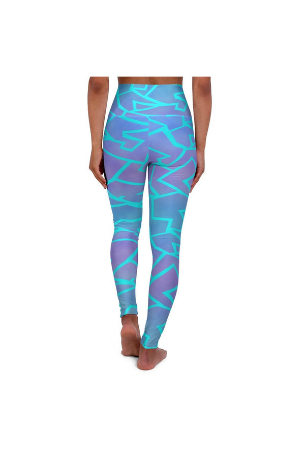 Neon Flash High Waisted Yoga Leggings