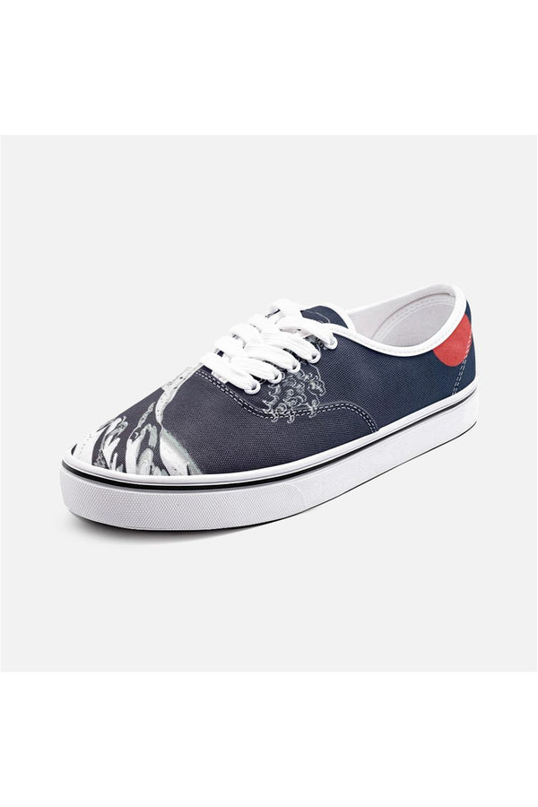 Great Wave Off Kanagawa Unisex Canvas Sneakers