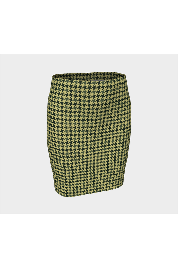 Woodland Camo Houndstooth Fitted Skirt
