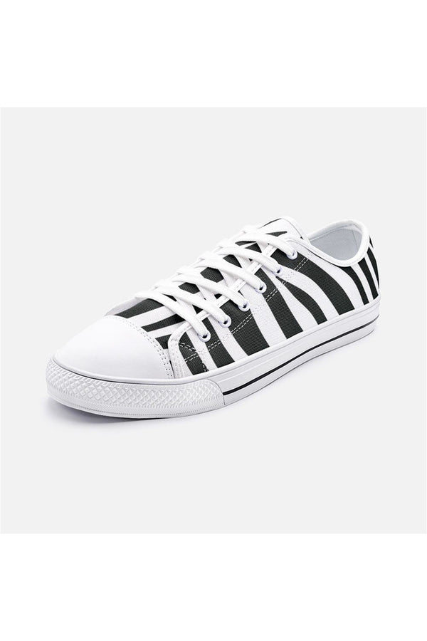 Zebra Print Unisex Low Top Canvas Shoes