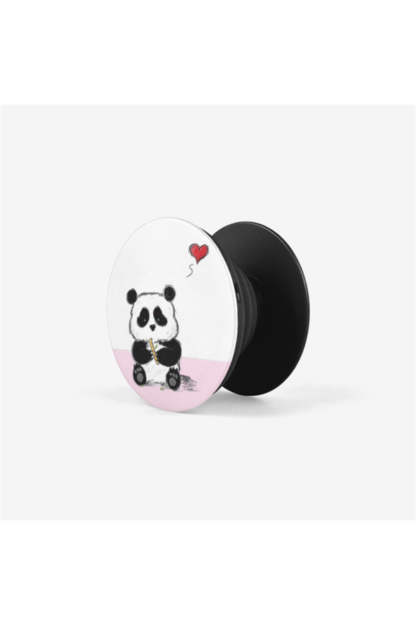 Panda and the Bamboo Piccolo of Love Collapsible Grip & Stand for Phones and Tablets