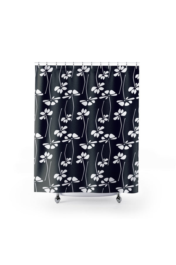 Floral Silhouette Shower Curtains - Objet D'Art Online Retail Store