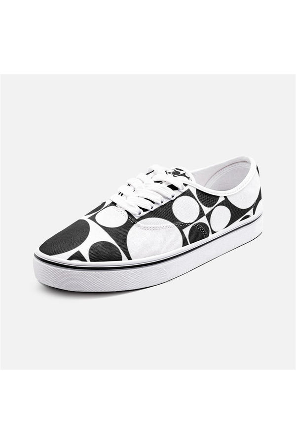 Geo Revolution Unisex Canvas Sneakers
