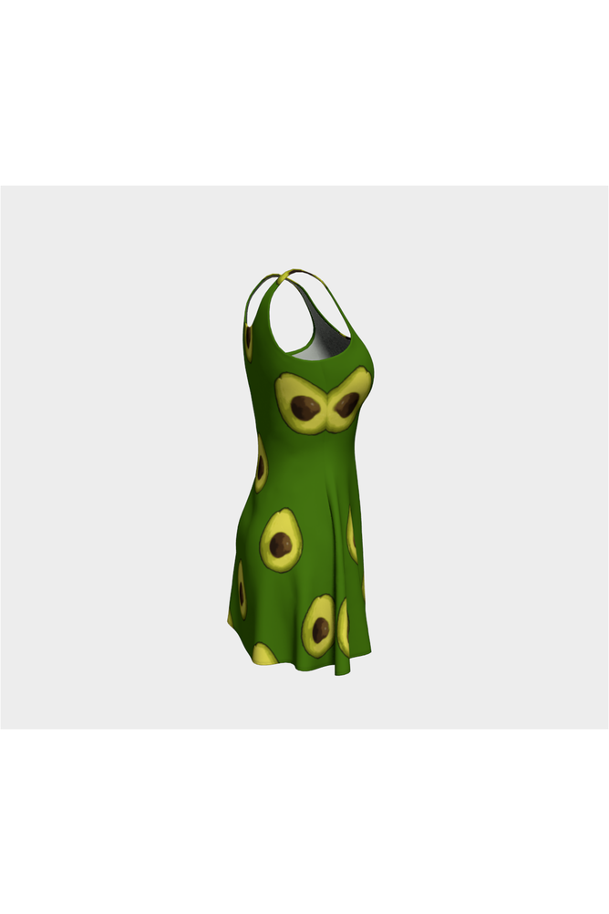 Avocado Avenue Flare Dress - Objet D'Art Online Retail Store
