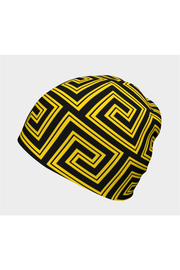 Golden Greek Key Beanie