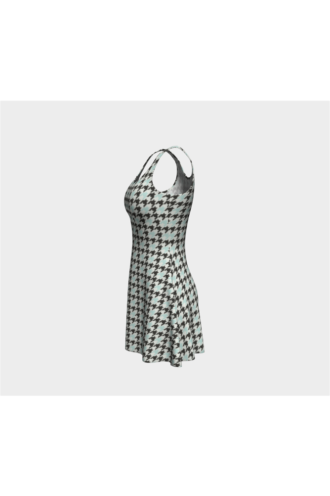 Camouflage Houndstooth Flare Dress - Objet D'Art Online Retail Store
