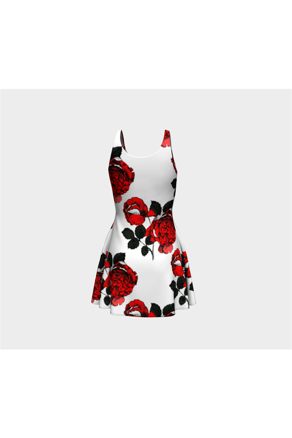 Red Rose Flare Dress