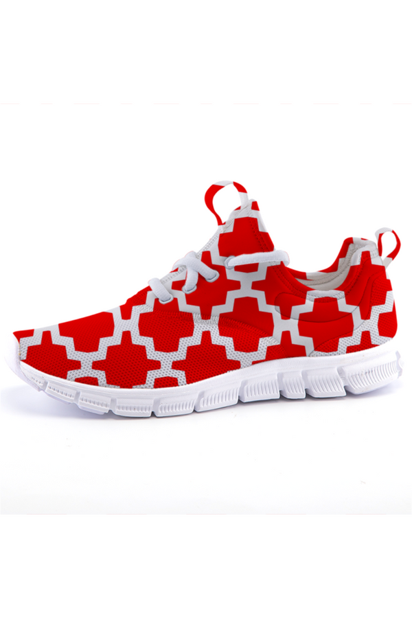 Rosy Geo Tessellations - Lightweight fashion sneakers