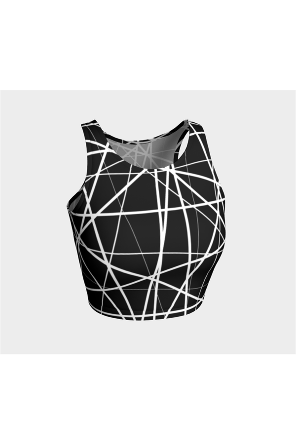 Abstract Lines Athletic Top - Objet D'Art Online Retail Store