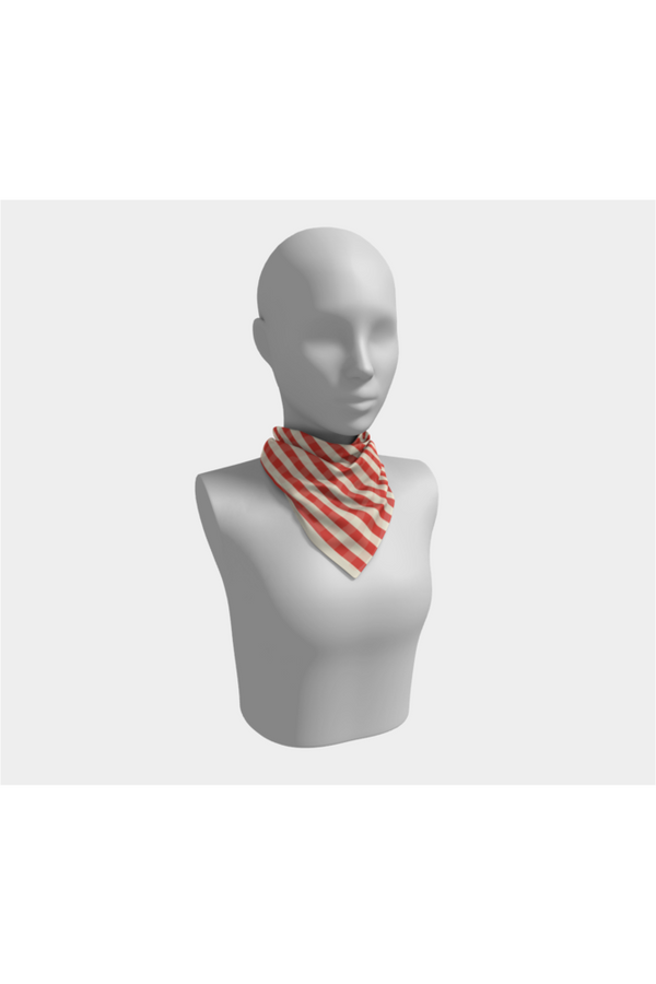 Coral Orange Square Scarf