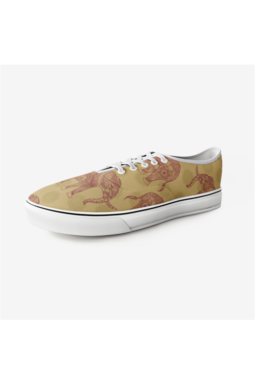 Elephant & Mandala Unisex Canvas  Sneakers