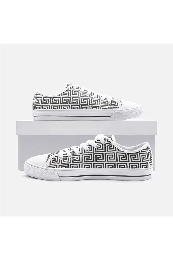 Greek Key Unisex Low Top Canvas Shoes