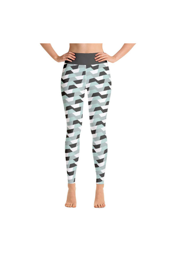 GRAY FOX RIBBON Yoga Leggings
