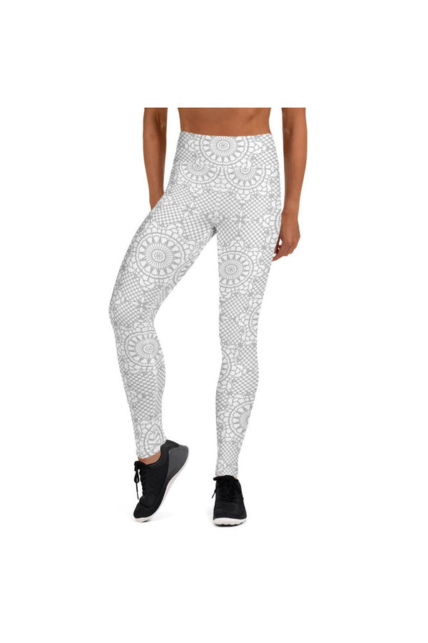Silver Mandala Yoga Leggings