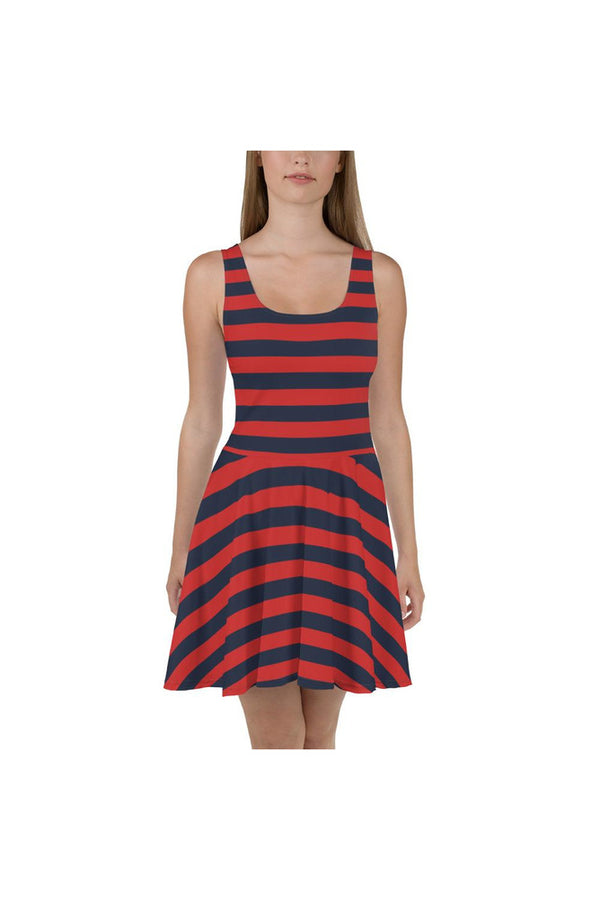 Stripe It Rich Skater Dress