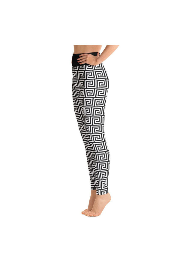 Greek Key Yoga Leggings