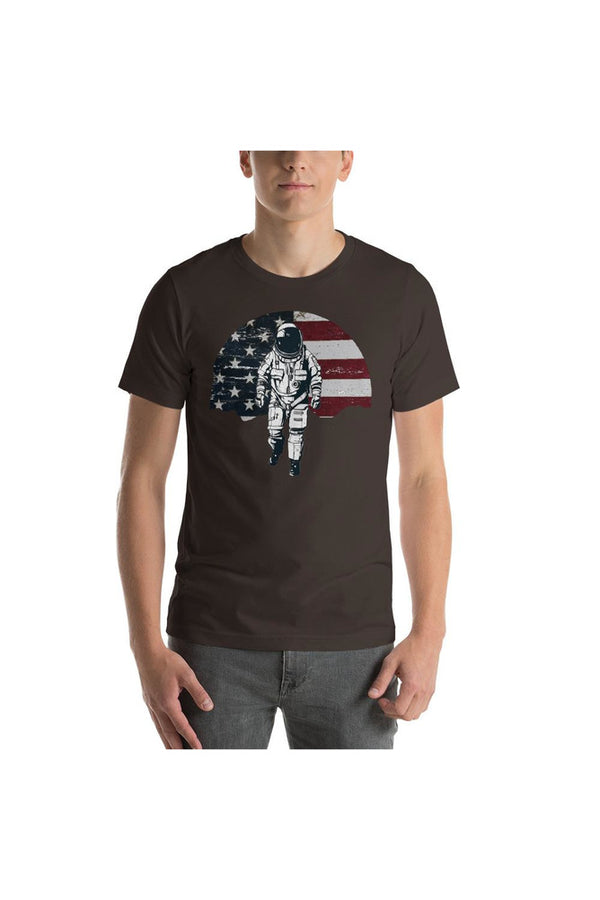 Next Step Mars Unisex Short Sleeve Jersey T-Shirt with Tear Away Label