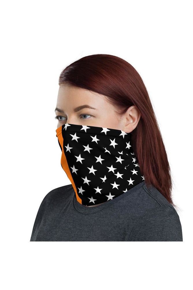 Thin Orange Line Neck gaiter