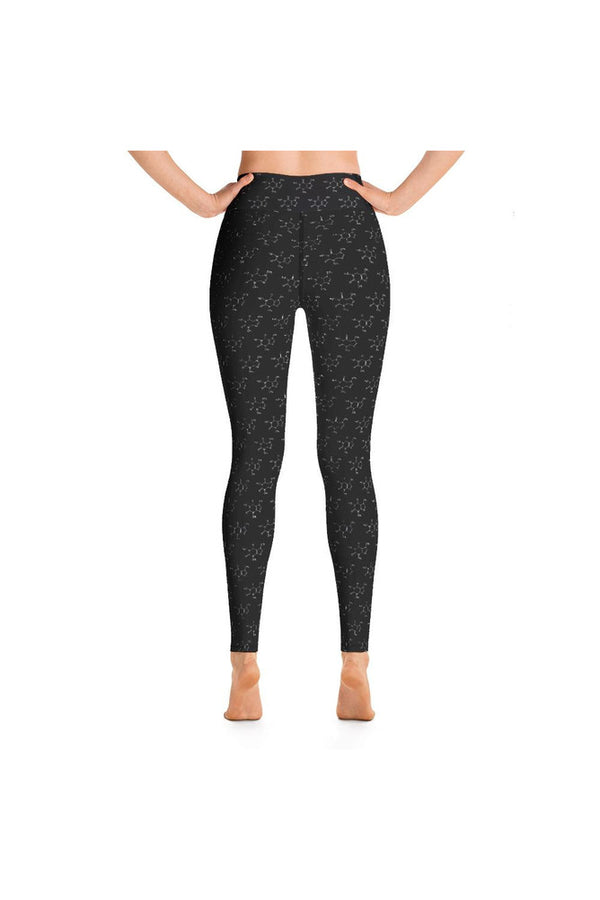 Caffeine Molecule Yoga Leggings