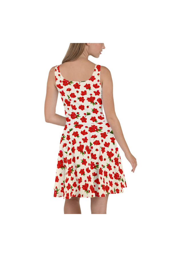 Wheat Cherry Skater Dress