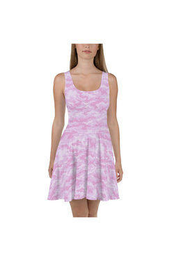 Robe patineuse camouflage rose