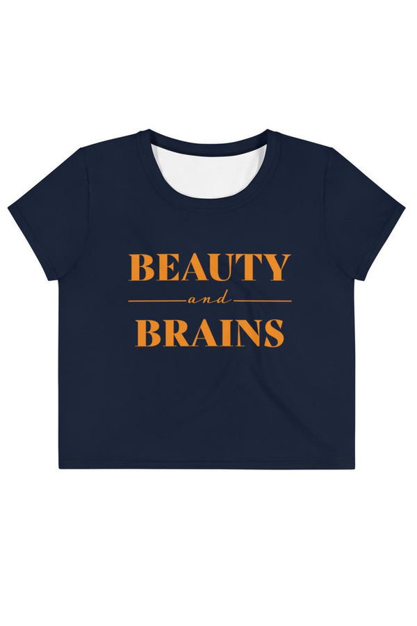 Beauty and Brains Crop Tee