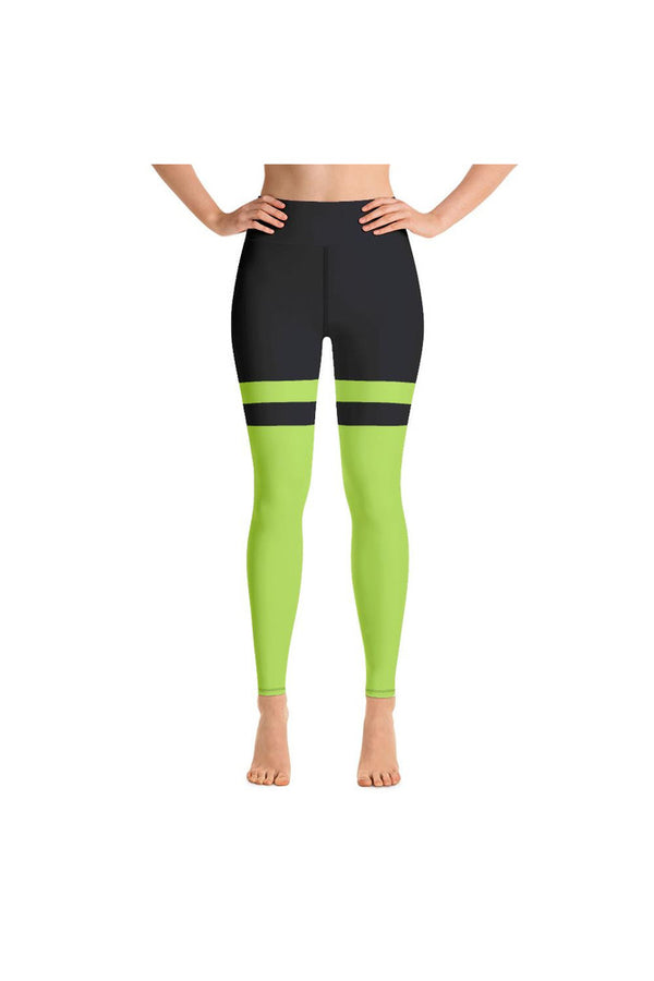 Lime Green & Midnight Blue Yoga Leggings