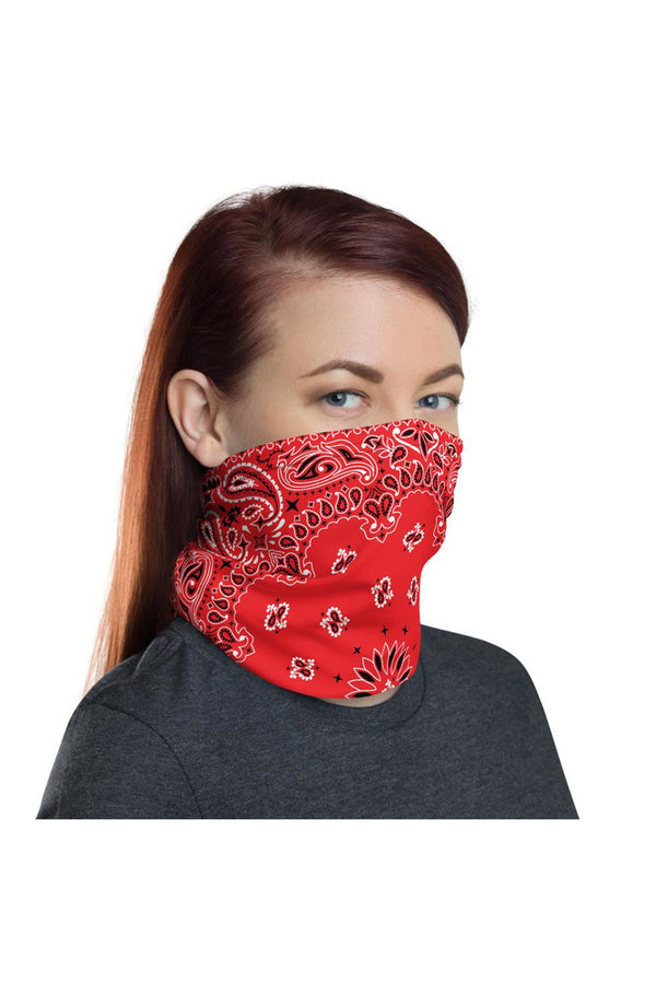 Red Bandana Neck gaiter