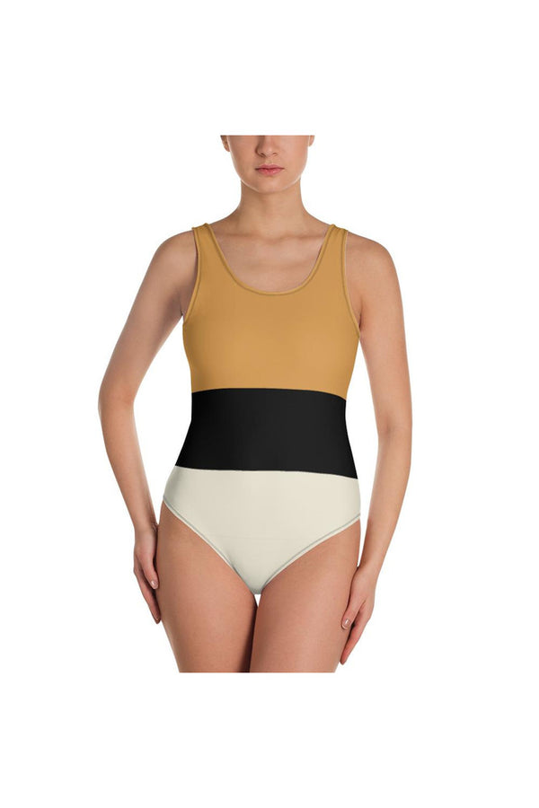 Tracie Tri-Color One-Piece Swimsuit