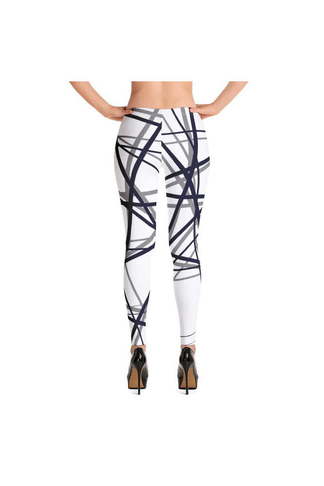 Abstract Lines Leggings - Objet D'Art Online Retail Store
