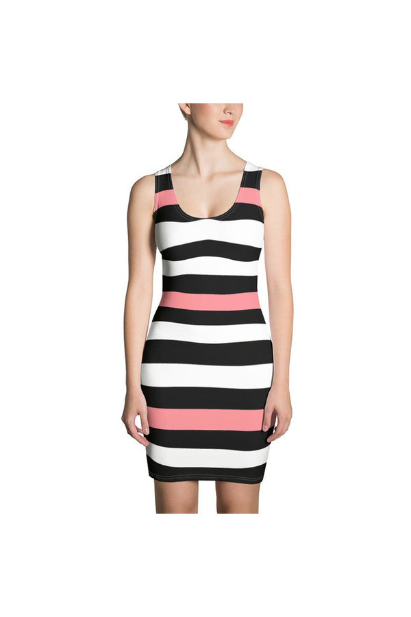 Pink-A-Boo Stripe Sublimation Cut & Sew Dress
