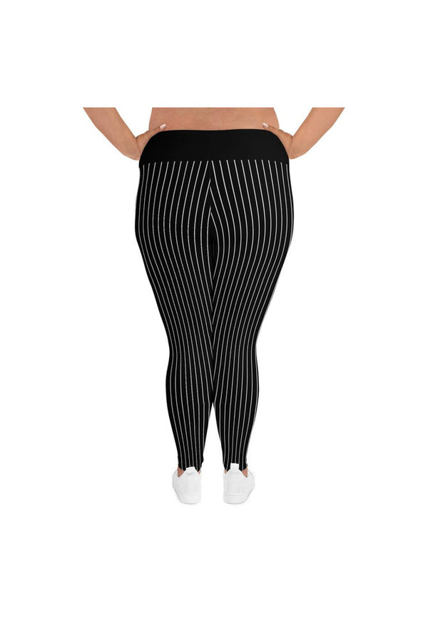 Black Stripe Plus Size Leggings