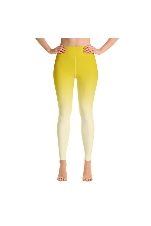 Ombre Yellow to White Yoga Leggings