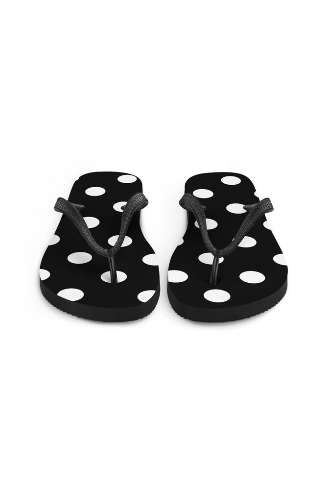Black and White Polka dots Flip-Flops
