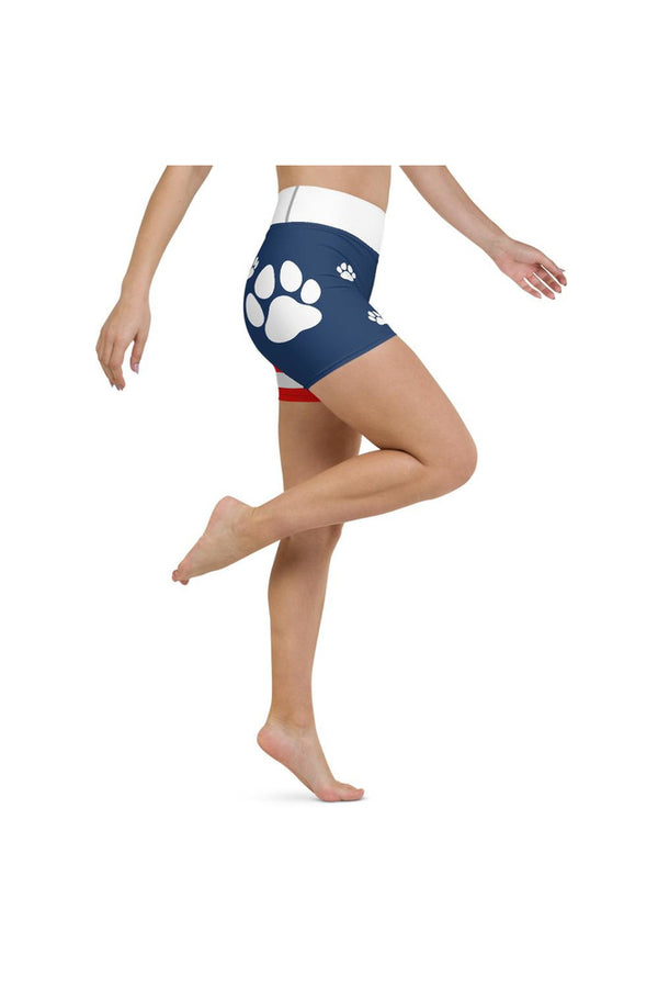Paws and Stripes Yoga Shorts