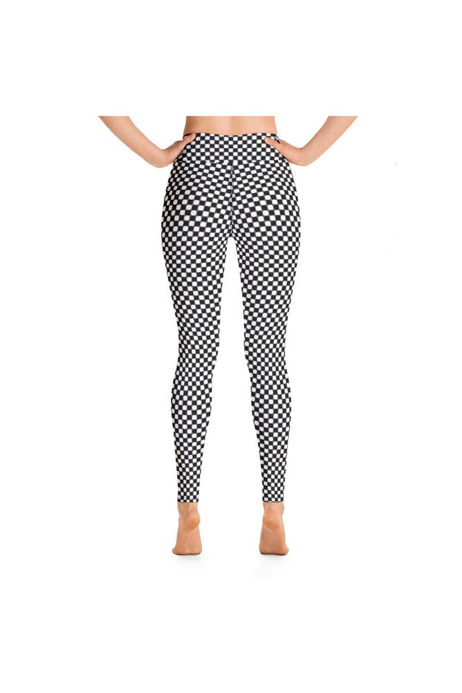 Black & White Circles Yoga Leggings
