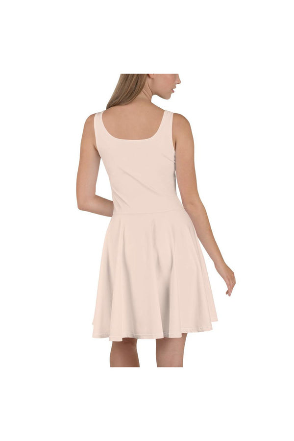 Bare-Colored Skater Dress