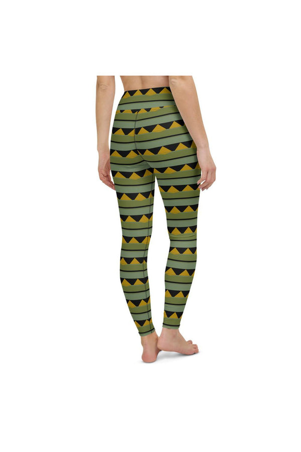 Eastern Black Swallowtail Butterfly Yoga Leggings