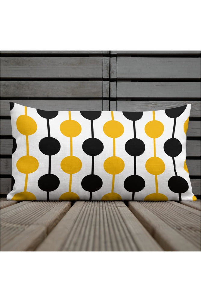 Gold Spheres on a String Premium Pillow - Objet D'Art Online Retail Store