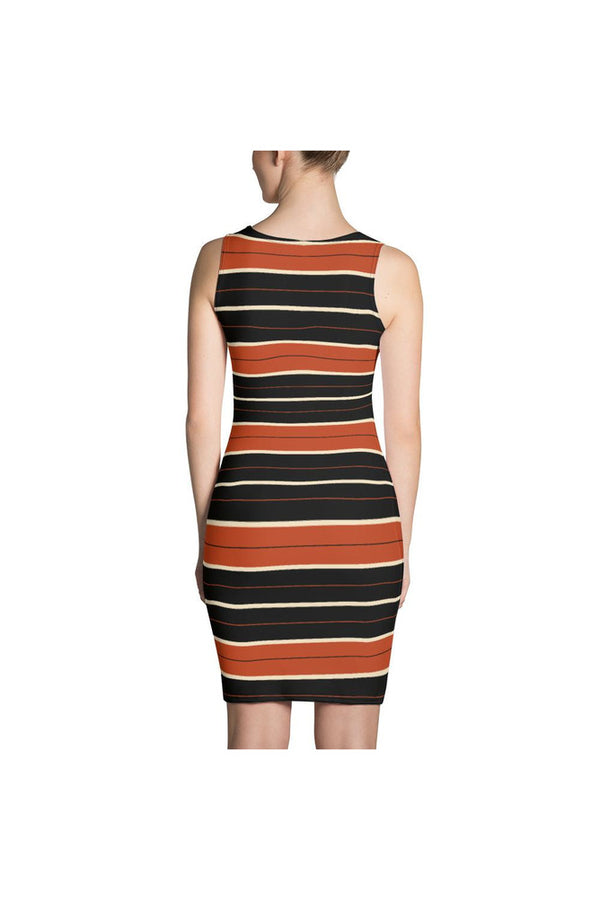 Passionate Stripes Sublimation Cut & Sew Dress