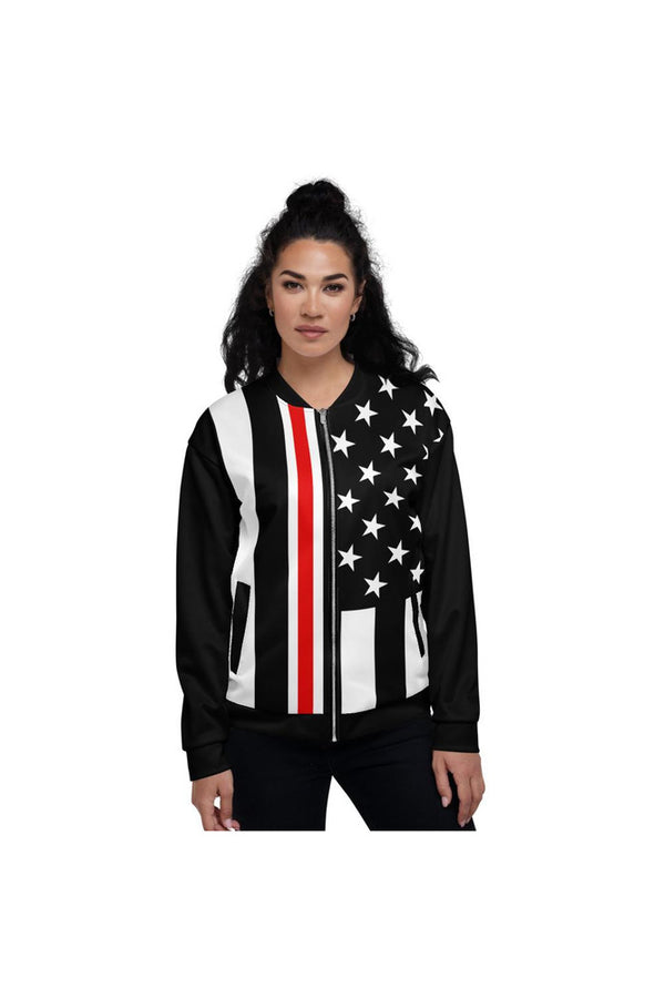 Celebrating Nurses - Thin Red/White Line Unisex Bomber Jacket