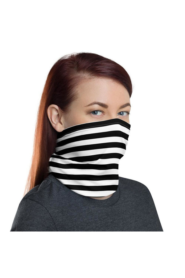 Black & White Striped Neck gaiter
