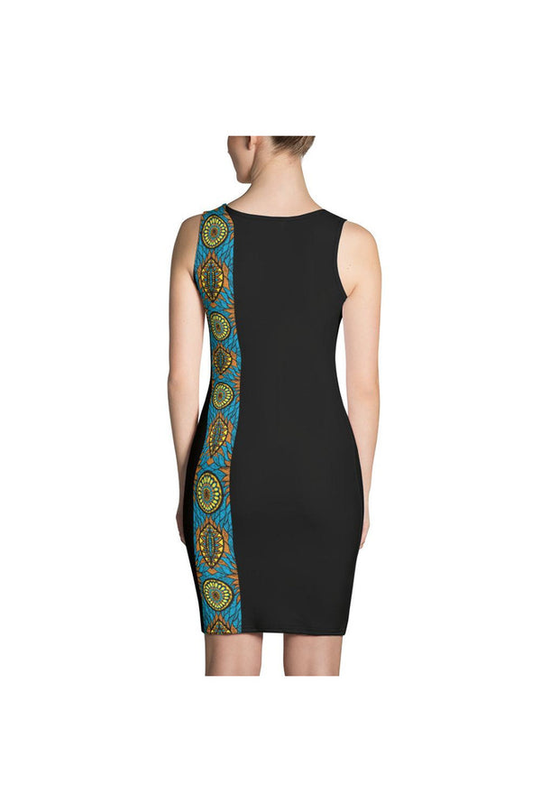 African Kente Accent Sublimation Dress