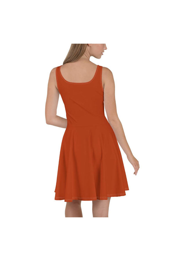 Burnt Sienna Skater Dress