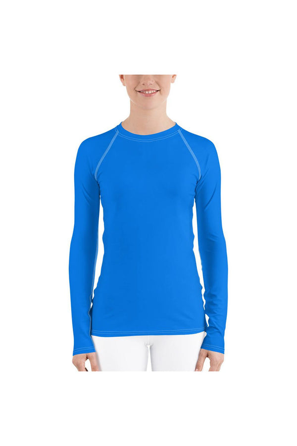 Coral Blue Women's Rash Guard
